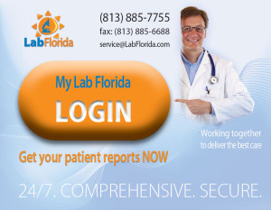 Login to MyLabFlorida to check tests results or place a test order