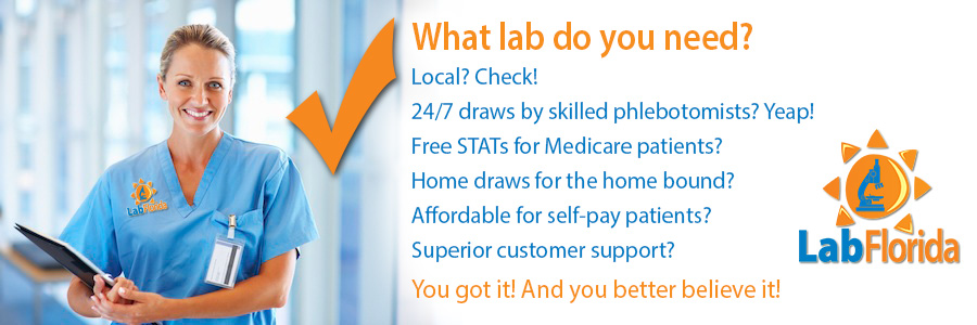 Local-24/7 draws-skilled phlebotomists-free STATs-home draws for the home bound-affordable for self-pay patients-superior customer support
